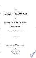 Le paradis reconquis ou la tentation de Jésus au désert
