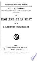 Le problème de la mort et la conscience universelle
