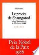 Le Procès de Shamgorod, tel qu'il se déroula le 25 février 1649