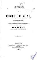Le procès du Comte d'Egmont