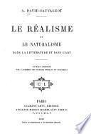 Le réalisme et le naturalisme dans la littérature et dans l'art