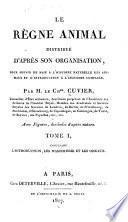 Le règne animal distribué d'après son organisation: L'introduction, les mammifères et les oiseaux