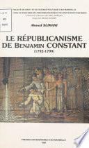Le Républicanisme de Benjamin Constant (1792-1799)