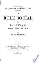 Le rôle social de la femme