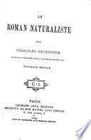 Le roman naturaliste par Ferdinand Brunetière