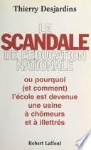 Le scandale de l'Éducation nationale