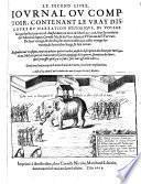 Le second livre, iournal ou comptoir, contenant le vray discours et narration historique, du voyage faict par les huit navires d'Amsterdam, au mois de Mars l'an 1598