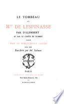 Le tombeau de Mlle de Lespinasse
