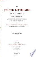 Le trésor littéraire de la France
