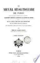 Le tribunal révolutionnaire de Paris