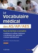 Le vocabulaire médical des AS/AP/AES