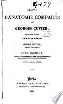Leçons d'anatomie comparée de Georges Cuvier