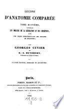 Lecons d'anatomie comparee recueillies et publiees par Dumeril (et G. L. Duvernoy). 2 ed. corr. etc