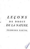 Leçons De Droit De La Nature Et Des Gens