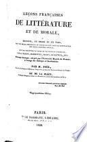 Leçons françaises de littérature et de morale, ou, Recueil, en prose et en vers