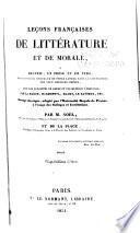 Leçons françaises de littérature et de morale: Prose.- v.2. Poésie