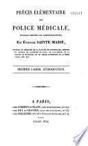 Lectures relatives à la police médicale faites au Conseil de salubrité de Lyon et du département du Rhône