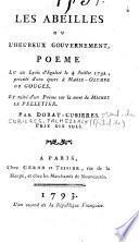 Les Abeilles ou l'heureux gouvernement, poeme lu au Lycée d'Egalité le 4 Juillet 1792... par Dorat-Cubières