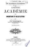 Les Académies d'autrefois
