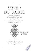 Les amis de la marquise de Sablé i