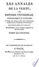 Les annales de la vertu, ou histoire universelle