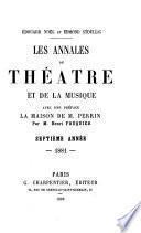 Les Annales du Theatre EDt De La Musique