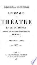 Les Annales du théâtre et de la musique