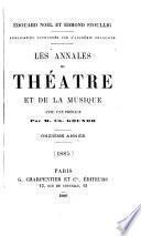 les annales du theatre et de la musique
