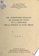 Les astronomes français, le passage de Vénus et la diffusion de la science au XVIIIe siècle