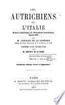 Les autrichiens et l'Italie