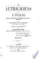 Les Autrichiens et l'Italie, l'occupation autrichienne depuis 1815