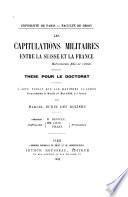 Les capitulations militaires entre la Suisse et la France