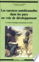 Les Carences nutritionnelles dans les pays en voie de développement