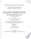 Les chartes de Saint-Bertin: 1474-1779