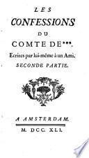 Les confessions du Comte de ***