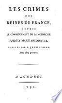 Les crimes des reines de France