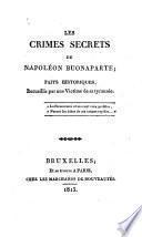 Les crimes secrets de Napoléon Buonaparte