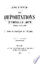 Les deportations du consulat & de l'empire (d'après des documents inédits)