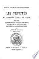 Les députés à l'Assemblée législative de 1791