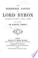 Les dernières années de Lord Byron