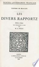 Les Divers Rapportz