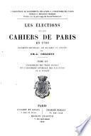 Les élections et les cahiers de Paris en 1789