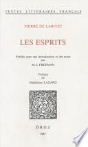 Les Esprits / Préface de Madeleine Lazard