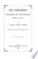 Les fabulistes flamands et hollandais antérieurs au XVIIIe siècle