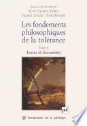 Les fondements philosophiques de la tolérance