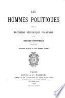 Les hommes politiques sous la troisième République française