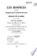 Les Hospices civils attaqués par le Courrier de Lyon et défendus par le Rhône