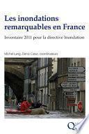 Les inondations remarquables en France