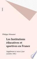 Les Institutions éducatives et sportives en France