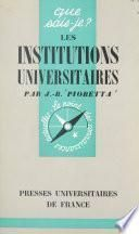 Les institutions universitaires en France